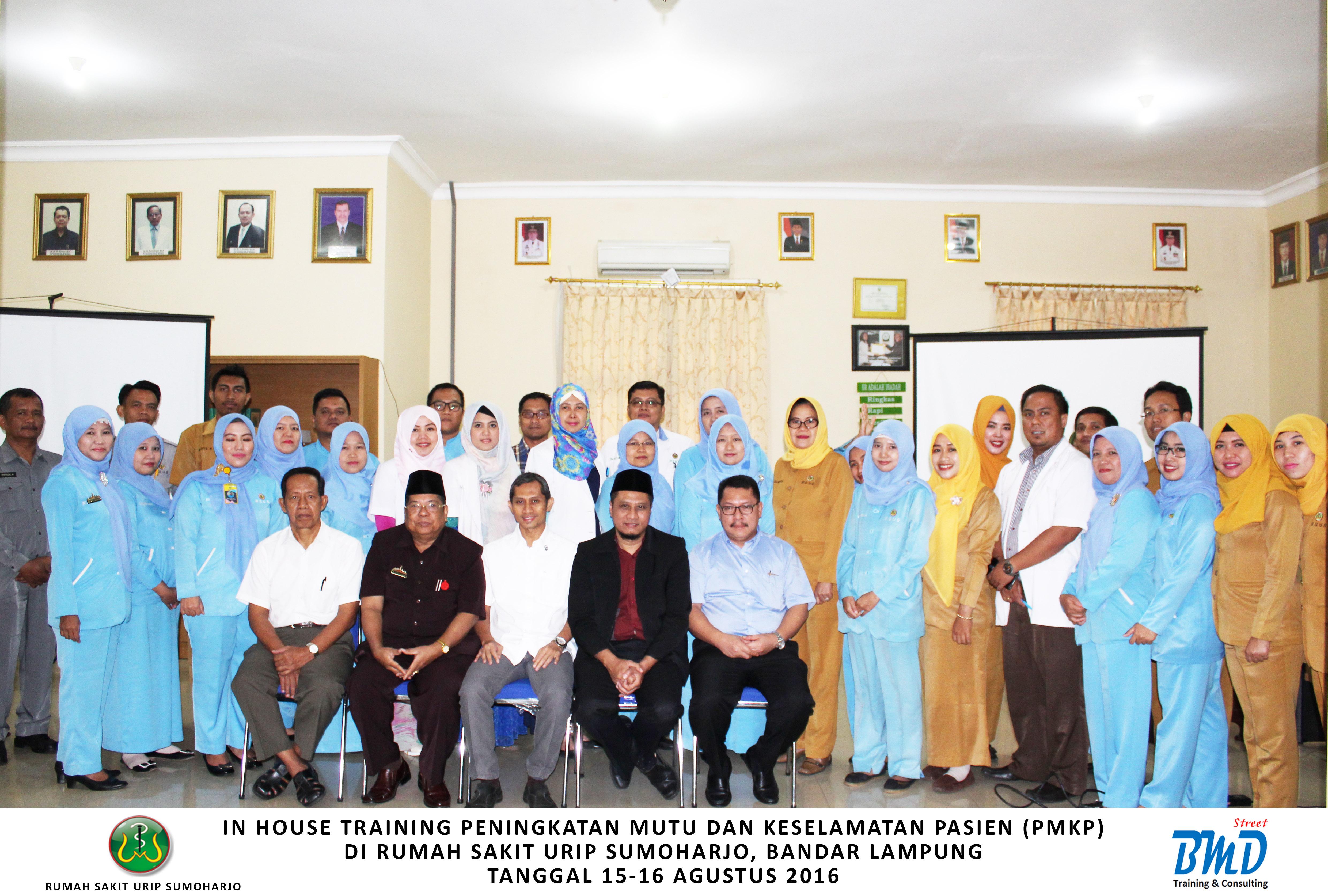 Training Peningkatan Mutu dan Keselamatan Pasien di Rumah Sakit (PMKP) (29-30 Januari 2018 Jakarta)