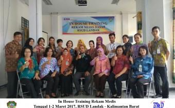 Foto In House Training Rekam Medis RSUD Landak 1-2 Maret 2017